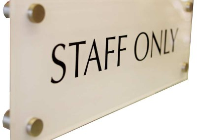 Acrylic plaques are a great option for door and wall office signs