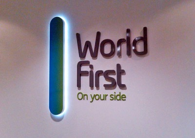 3D signage with LED illumination awesome for reception signs