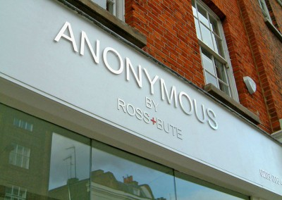 Metal letters to shop fascia by Aspect Signs & Engraving. Sign Makers London