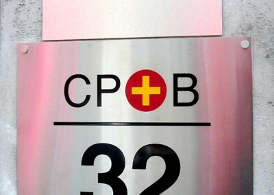Chemically engraved plaques by Aspect Signs & Engraving. Sign Makers London