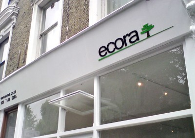Exterior signs & vinyl graphics by Aspect Signs & Engraving. Sign Makers London
