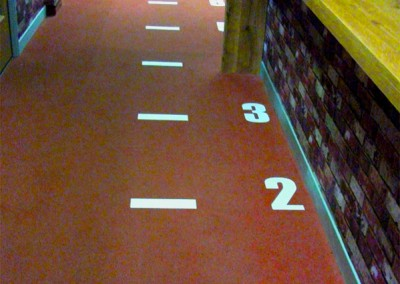 Floor vinyl graphics