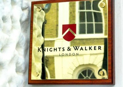Quality brass plaques by Aspect Signs & Engraving. Sign Makers London