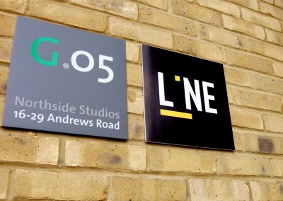 Aluminium signs with vinyl graphics to face, perfect for exterior use.