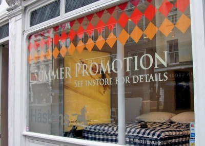 Vinyl lettering perfect for shop promotions