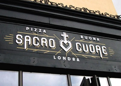 Restaurant signs aluminium panel and 3d letters by Aspect Signs & Engraving. Sign Makers