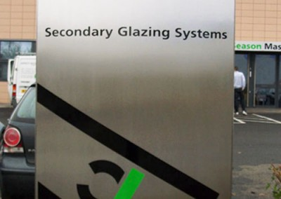 Outdoor Monolith Sign made from stainless steel by Aspect Signs & Engraving. Sign Makers
