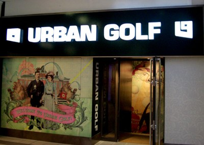 Shop signage with LED illumination by Aspect Signs & Engraving. Sign Makers London