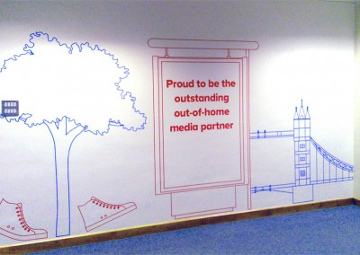 Vinyl wall art and wall murals, perfect for workplace manifestation by Aspect Signs & Engraving. Sign Makers London