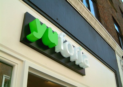 Built up acrylic letters by Aspect Signs & Engraving. Sign Makers London