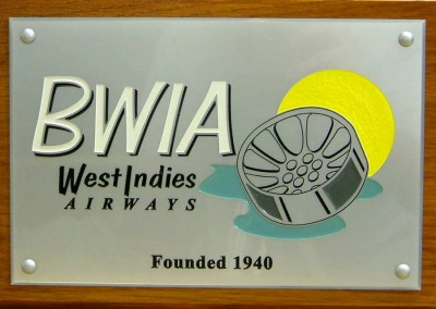 Engraved acrylic plaques infilled 4 colours