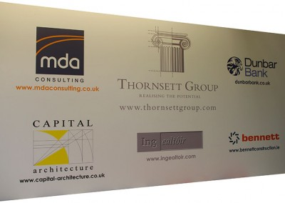 Vinyl signs - vinyl graphics applied to aluminium composite panel for large exterior signage