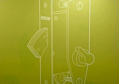 Vinyl graphics like large wall decals are great for office manifestation