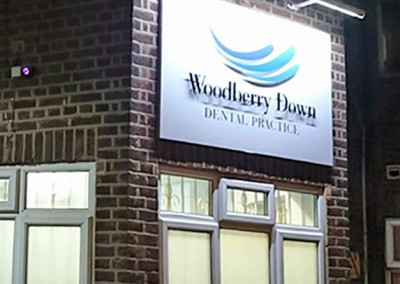 Aluminium tray with acrylic letters and illumination by Aspect Signs & Engraving. Sign Makers London